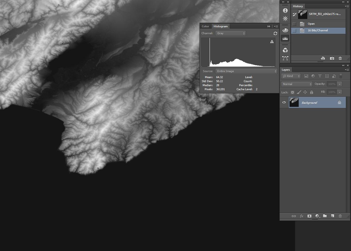 16 bit elevation DTM to Photoshop - Global Mapper Forum