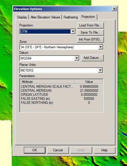 Problem: Projection UTM, Zone 34 N - Poland - Global Mapper