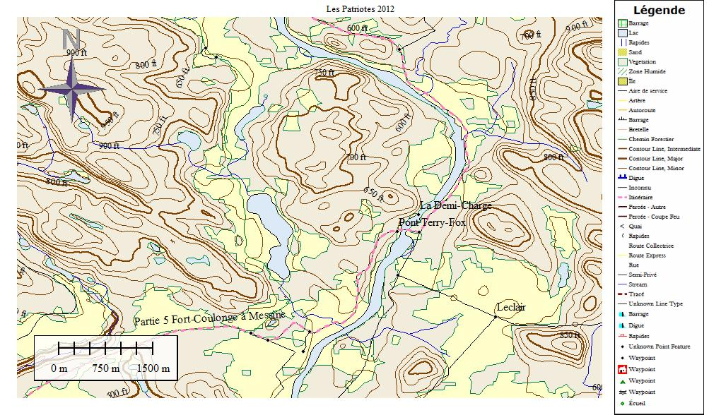 Quebec Topographic Map.Topo Map Of A Region Near The Quebec Ontario Border In Canada