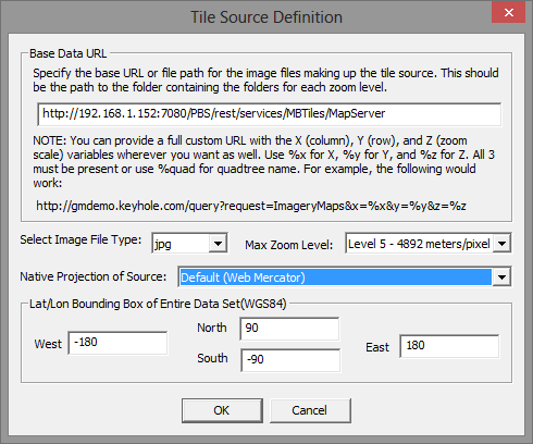 Online Data Source - import mbtiles using Portable BaseMap Server